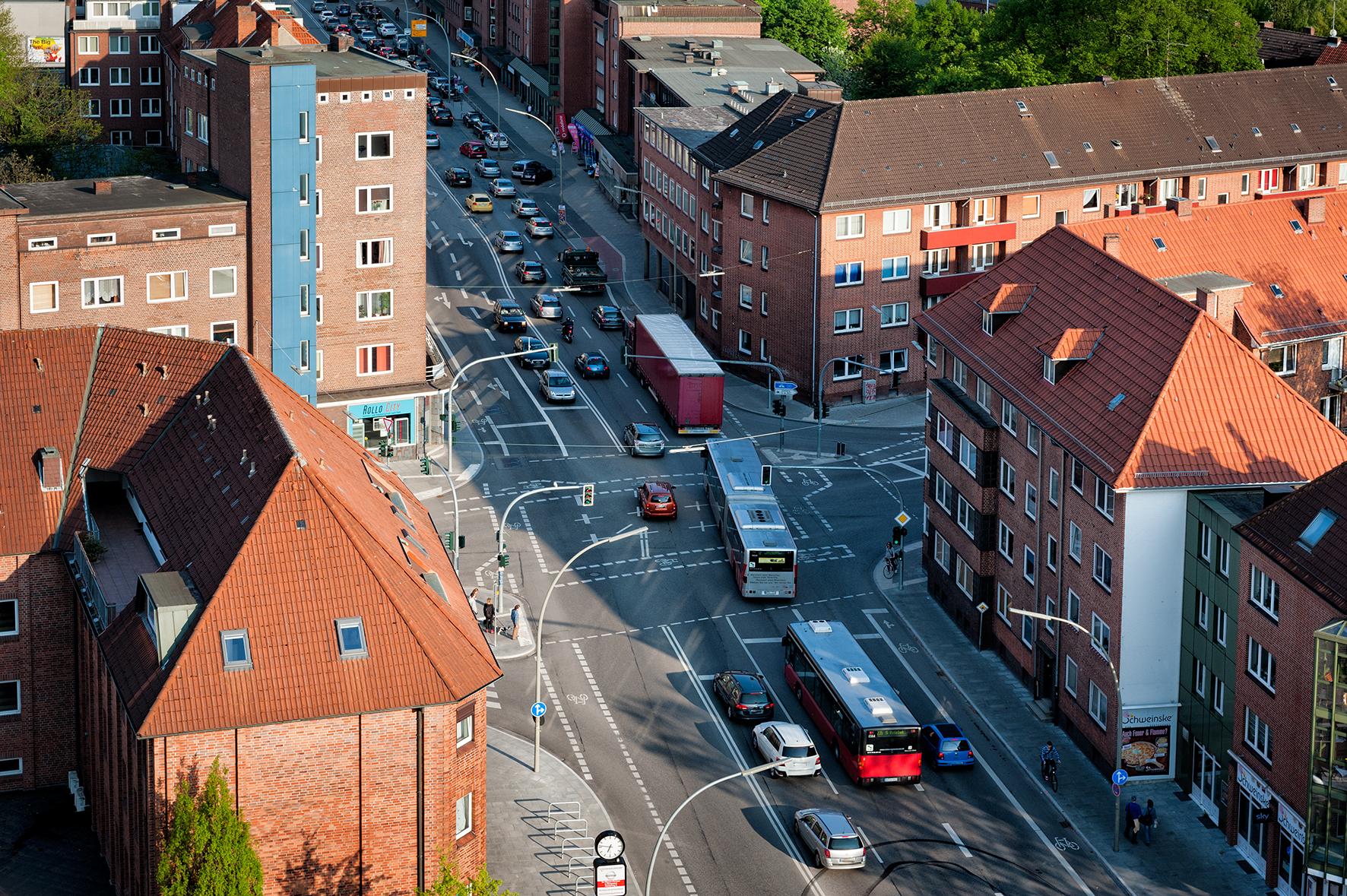 Kreuzung Bergedorfer Straße/Vierlanden Straße